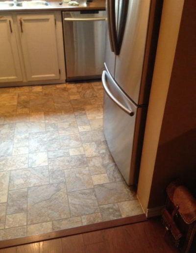 Kitchen Floor Fridge